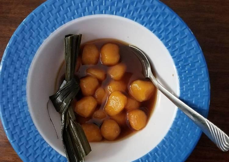 Resep: Tang Yuan / Wedang Ronde pakai ubi yang menggugah selera