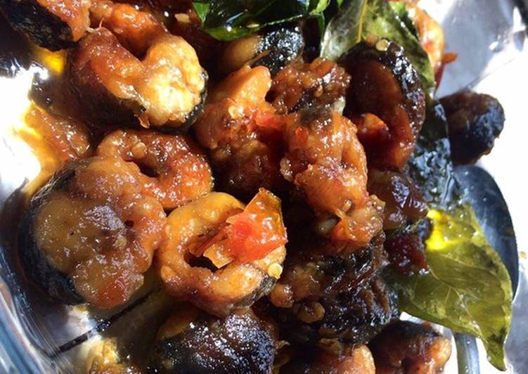 Resep: Belut goreng sambal rempah istimewa