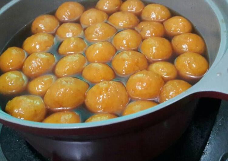 Cara membuat Wedang ronde ubi sedap