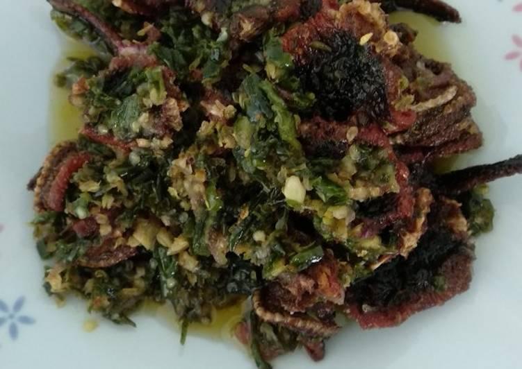 Resep: Belut goreng cabe hijau