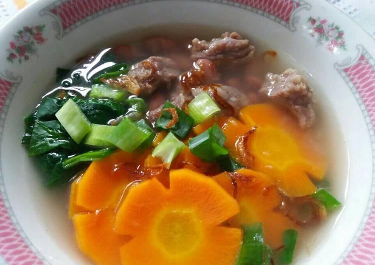 Resep: Sop Senerek Magelang (sop kacang merah) enak