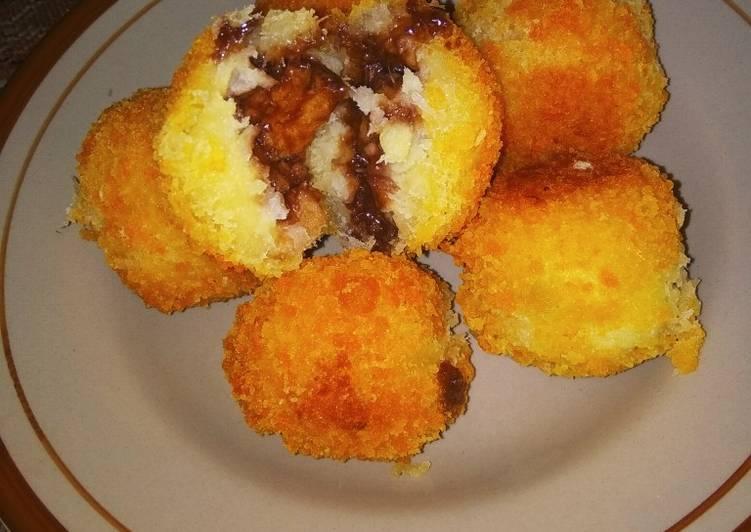 Cara Mudah membuat Gethuk goreng isi coklat🍫 sedap
