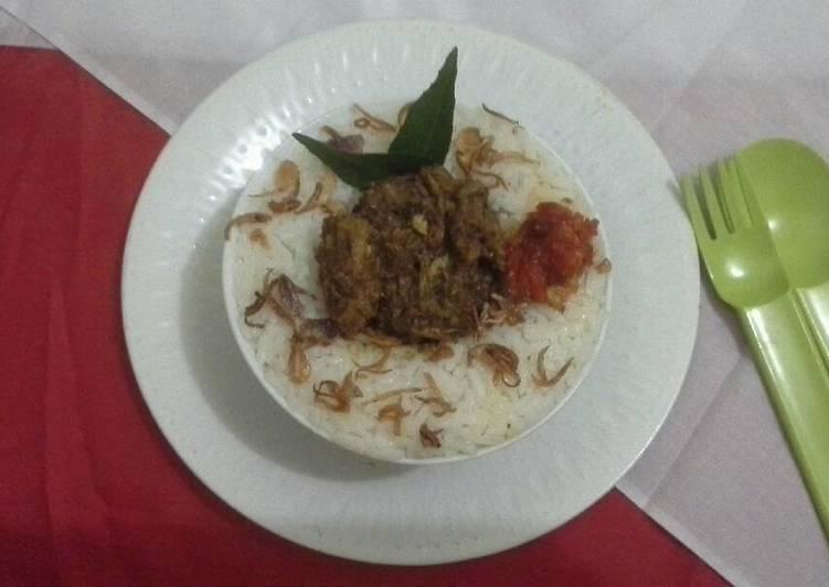 Resep: Nasi Gurih ikan keumamah (Aceh) sedap