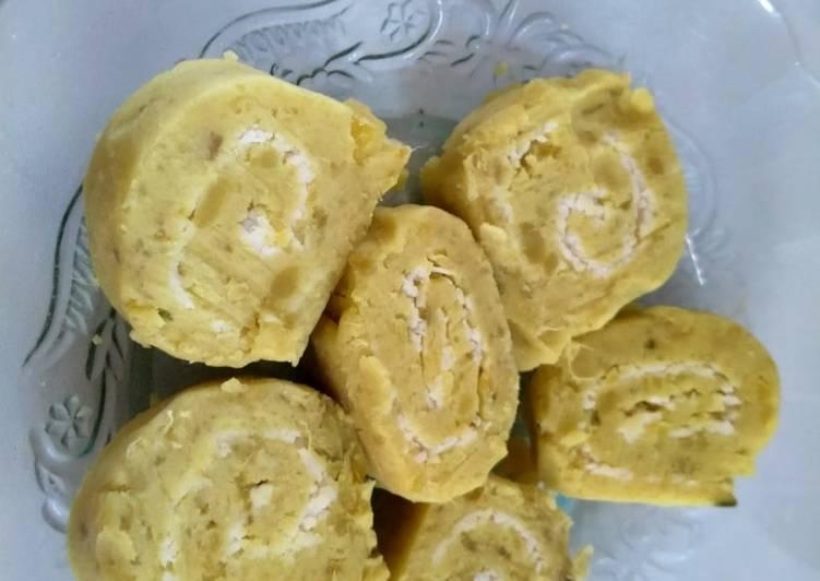 Resep: Gethuk ubi jalar (madu) gulung isi keju yang menggugah selera