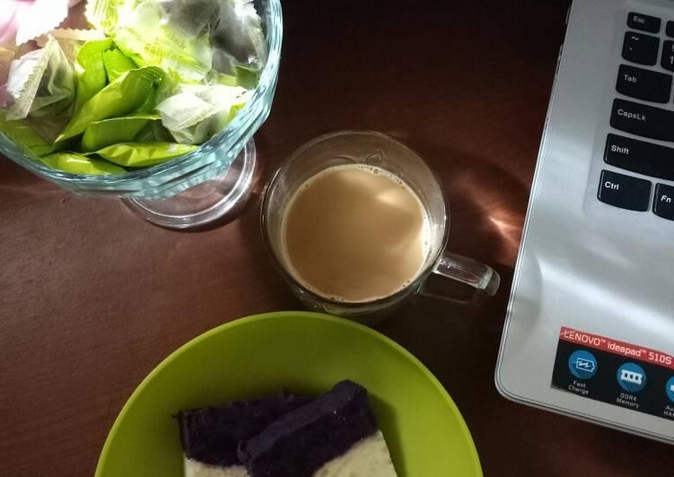 Resep: Cake gethuk singkong ubi ungu