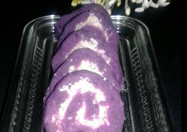 Resep: Getuk gulung ubi ungu enak