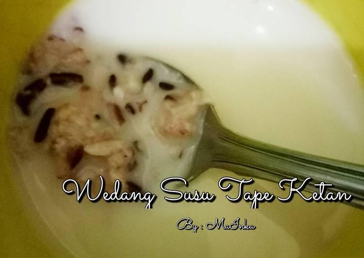 Resep membuat Wedang Susu Tape Ketan (wedang cor) sedap