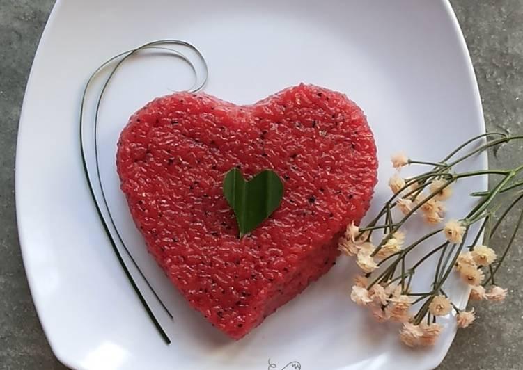 Resep memasak 4.6~Wajik buah Naga yang bikin ketagihan