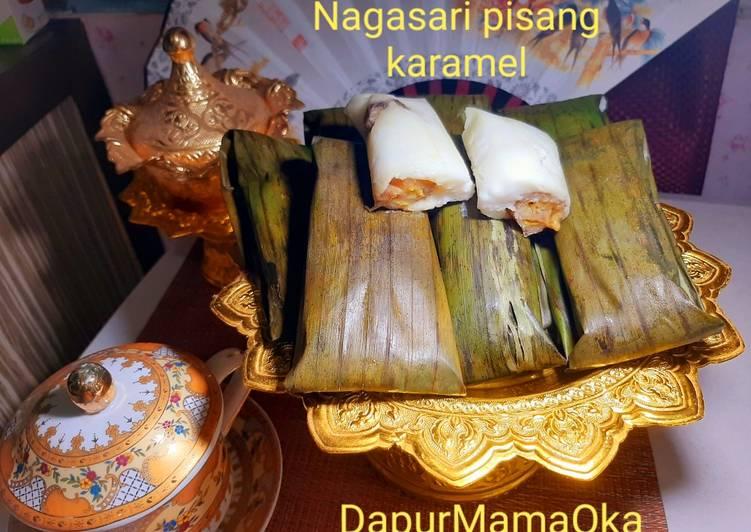 Resep: Nagasari pisang karamel lembut nikmat enak