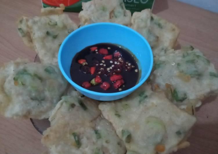 Resep: Mendoan tempe sambal kecap khas bumiayu city😋 enak