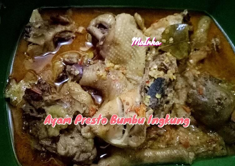 Cara membuat Ayam Presto Bumbu Ingkung yang bikin ketagihan