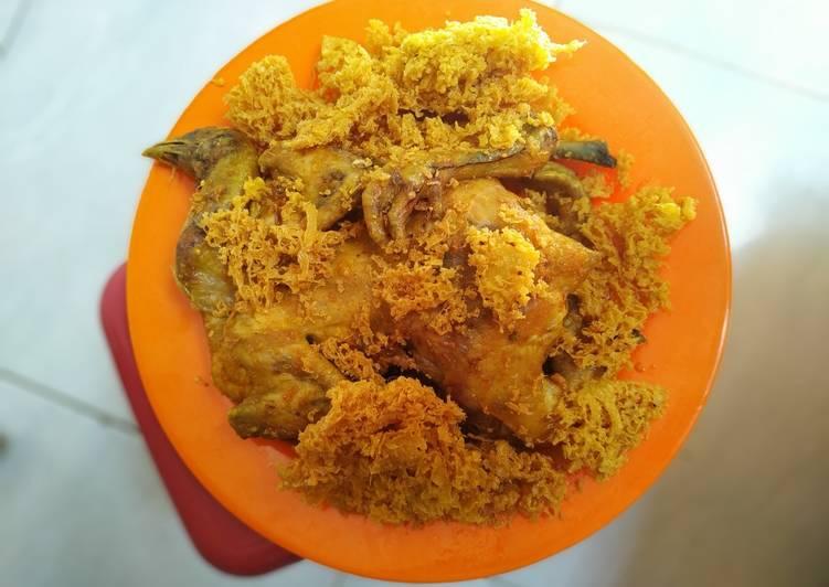 Resep: Ayam ingkung kremes sederhana ala resto