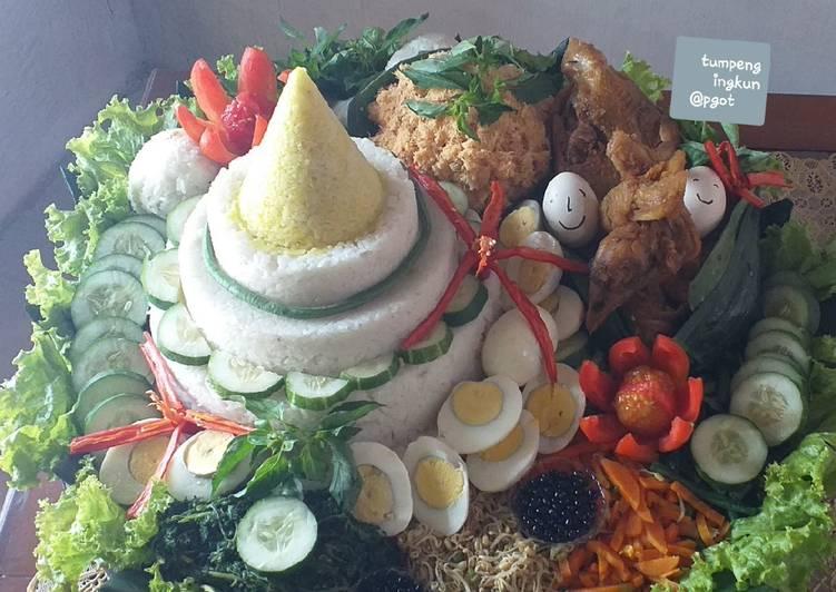 Resep: Tumpeng nasi uduk &ingkung yang menggugah selera