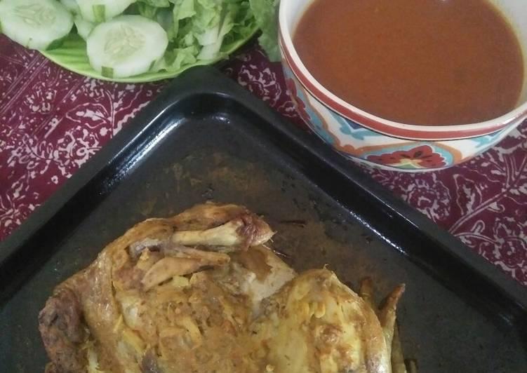 Cara Mudah memasak Ayam ingkung isi kecombrang yang menggugah selera