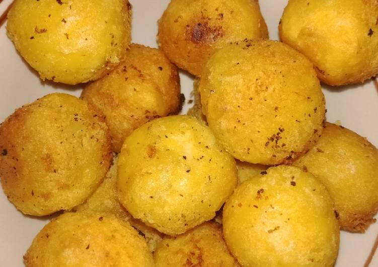 Cara memasak Getuk singkong goreng (jemblem) yang menggugah selera
