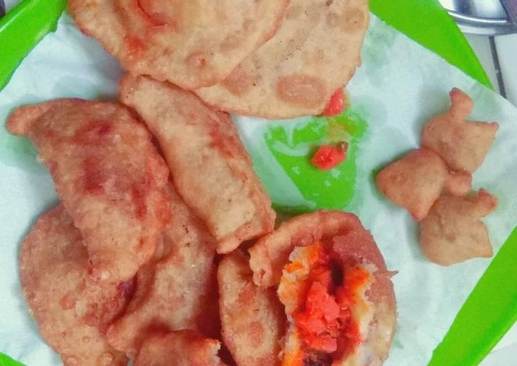 Cara memasak Cireng Bandung isi Sosis Pedas, Rendang dan coklat mesis ceres enak