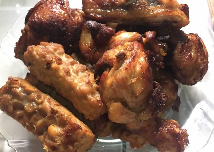 Cara Mudah memasak Ayam dan Tempe Bacem enak