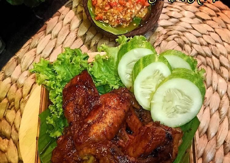 Cara Mudah memasak Ayam bacem Bakar dengan air kelapa lezat