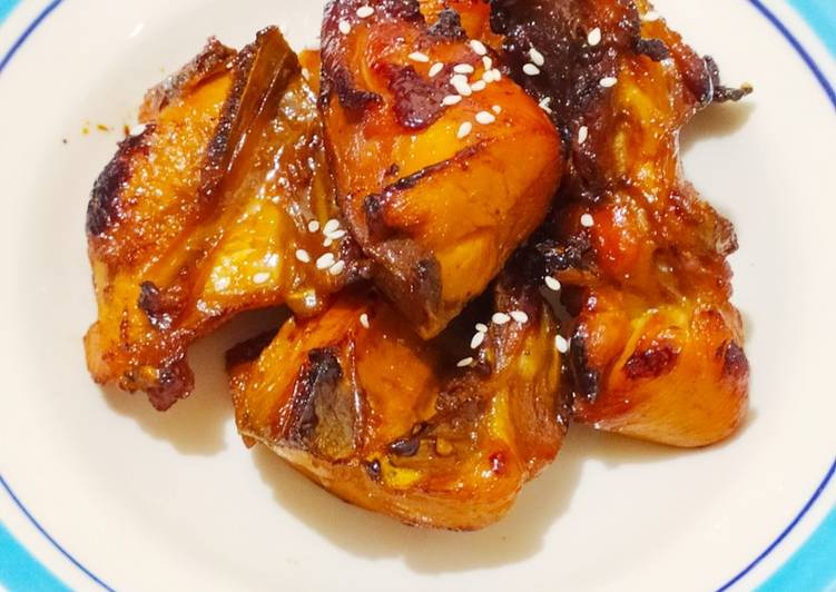 Cara membuat Bacem ayam no ribet ala resto