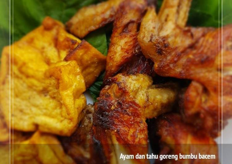 Resep: Ayam dan tahu goreng bumbu bacem