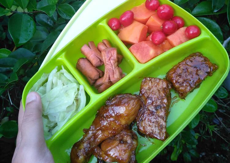 Resep: Ayam & Tempe Bacem Goreng ala resto