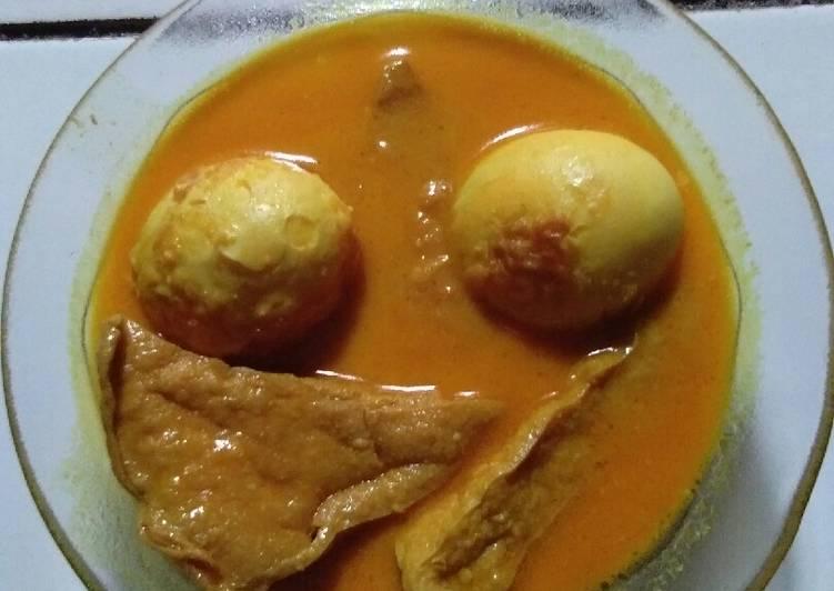 Resep: Rendang telur tahu istimewa