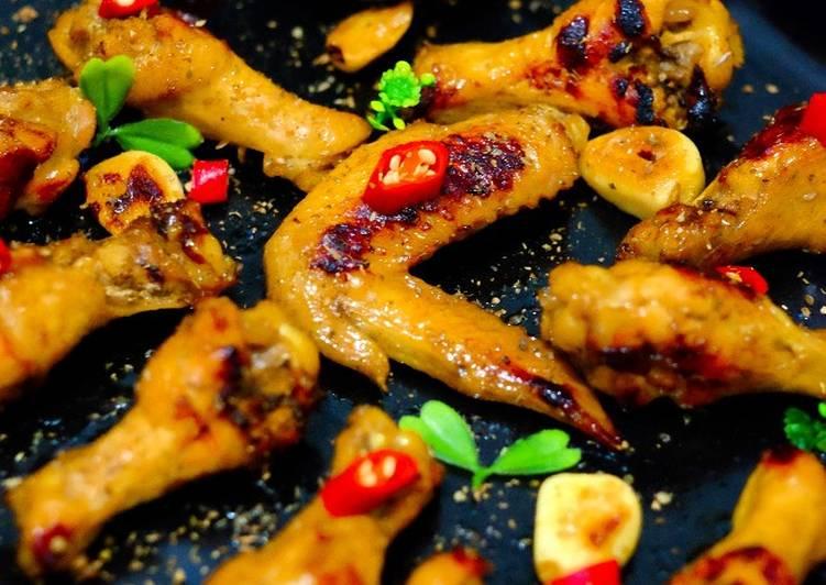 Resep: Drum Stick Ayam Panggang Bumbu Kalasan yang menggugah selera