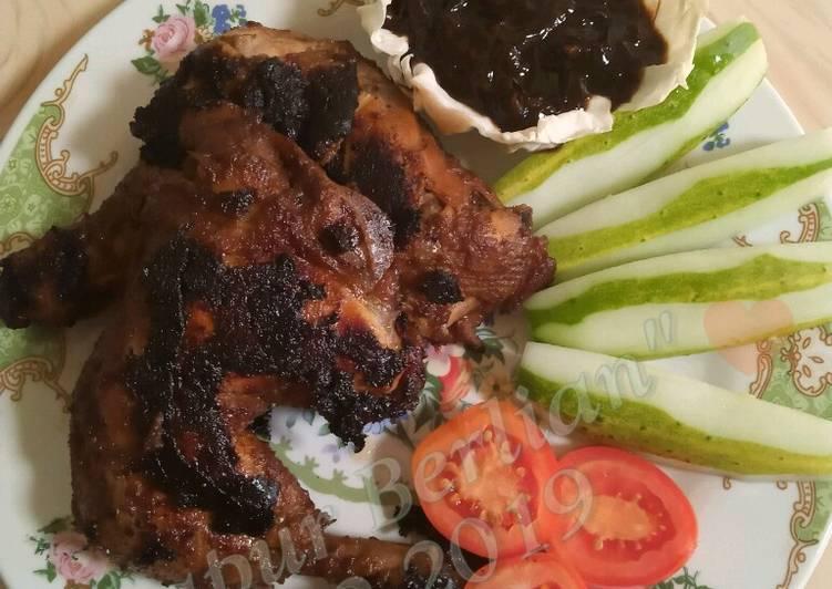 Resep: Ayam bakar Kalasan with sambal kecap ala resto