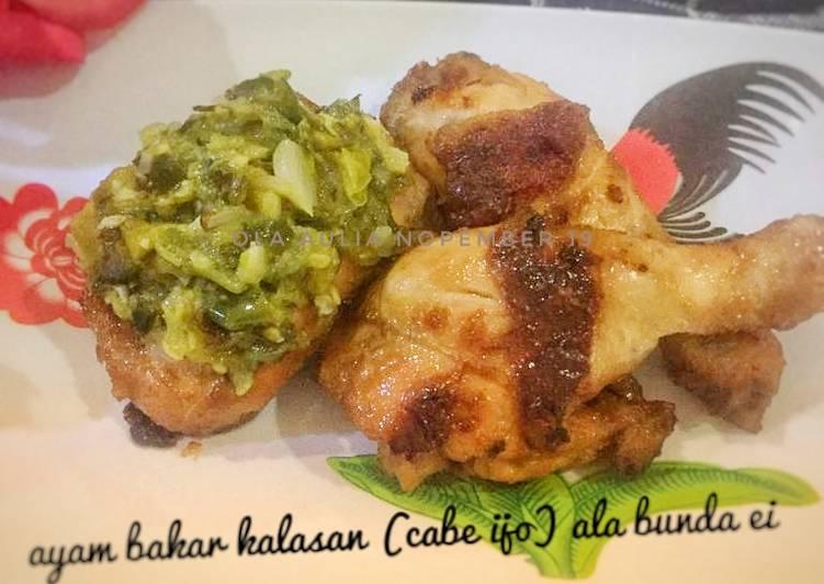 Resep: Ayam bakar kalasan ala bunda ei, modif (cabe ijo)