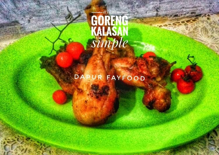 Cara Mudah memasak Ayam goreng kalasan simple yang menggugah selera