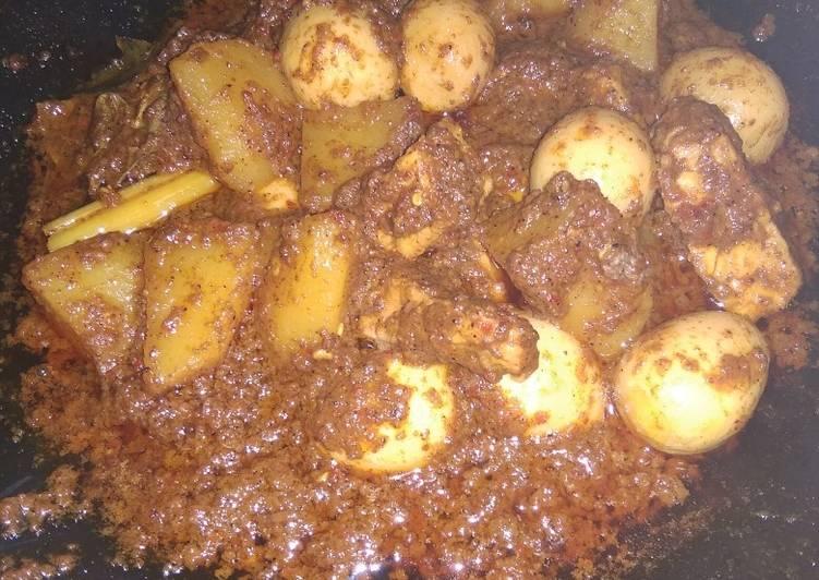 "Cara membuat ""Rendang Telur puyuh&kentang ala resto"