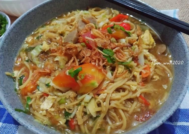 Cara Mudah memasak Bakmi Godog Jowo/bakmi rebus Jawa istimewa