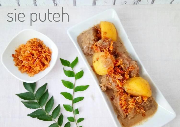 Cara memasak Sie Puteh (White Curry Meat) Khas Aceh #ketopad #Seninsemangat enak
