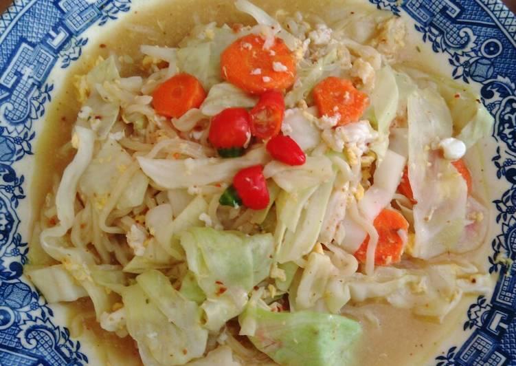 Resep: Mie Godog + sayuran, pedas istimewa