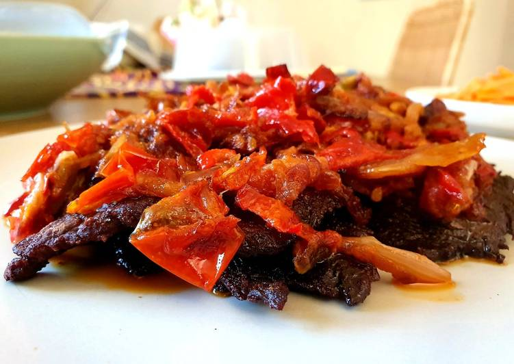 Dendeng Batokok Sambal Minyak Kelapa