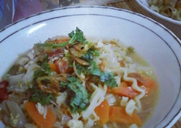 Cara memasak Mie Jawa nyemek yang bikin ketagihan