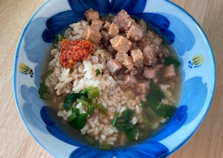 Cara memasak Nasi Bakmoy Tahu (vegetarian, gluten free) sedap