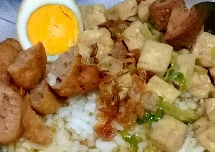 Resep: Nasi Bakmoy (Tahu dan Galantin Sapi) enak