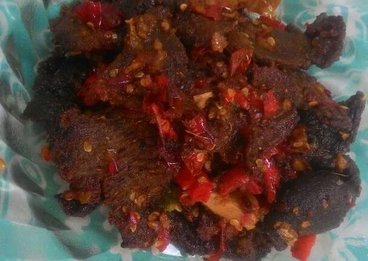 Resep memasak Dendeng batokok lado merah / Dendeng sapi balado #KitaBerbagi yang menggoyang lidah