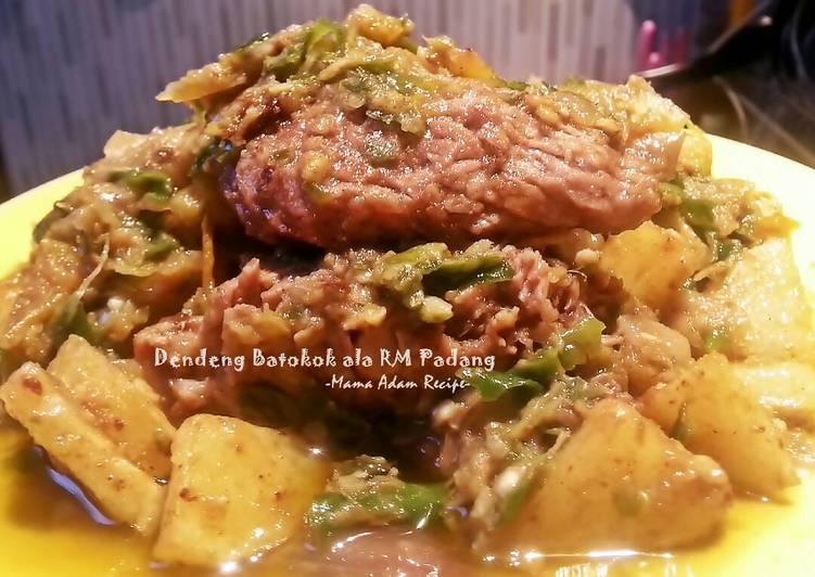 Resep: Dendeng Batokok ala RM Padang a.k.a Dendeng Lambok (Basah) enak