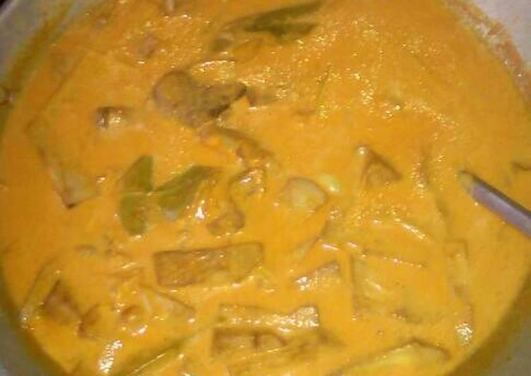 Cara Mudah memasak Gulai Cubadak(nangka)+Ayam yang menggugah selera