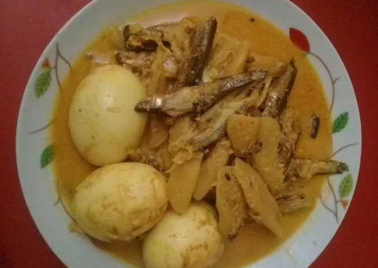 Cara memasak Gulai batang kemumu / talas enak