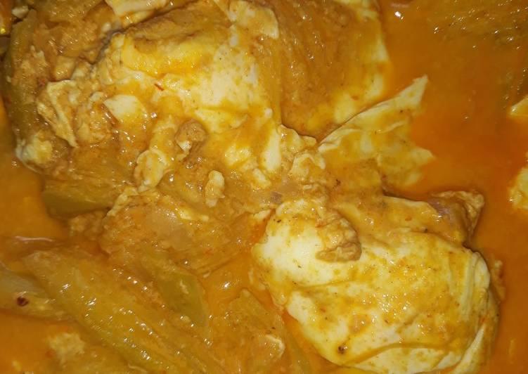 Resep: Gulai kemumu telur ceplok istimewa