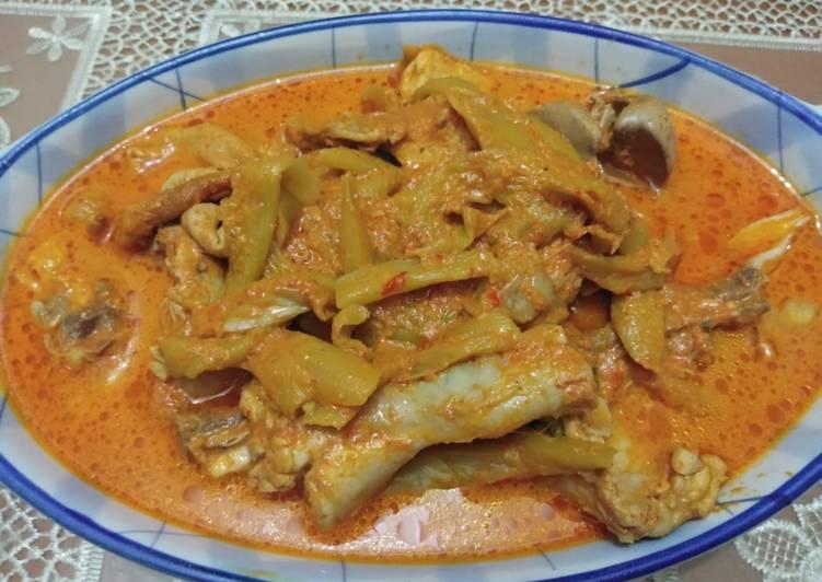 Resep: Gulai ayam kemumu/batang keladi ala resto