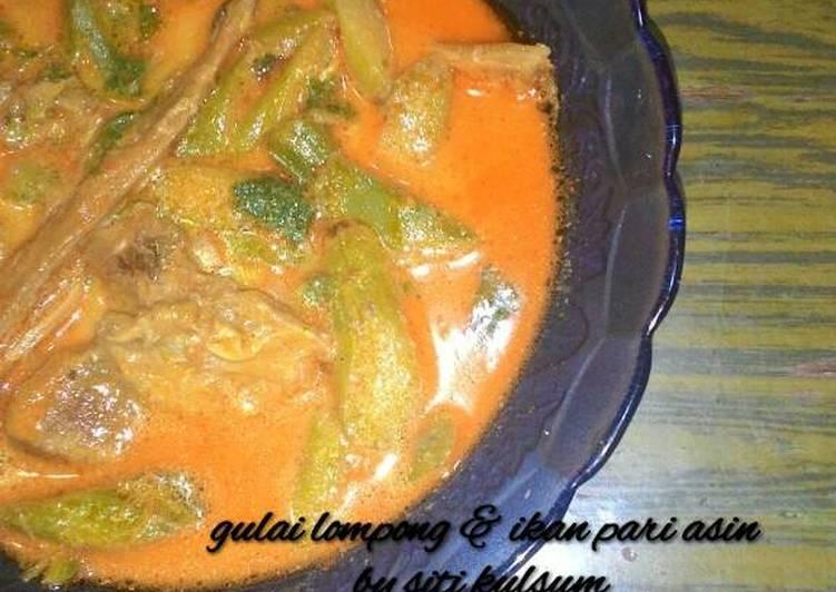 Resep mengolah Gulai lompong & ikan pari asin yang bikin ketagihan