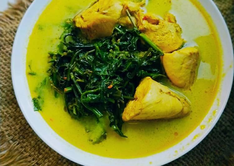 Cara memasak Gulai Pakis Daging Ayam yang bikin ketagihan