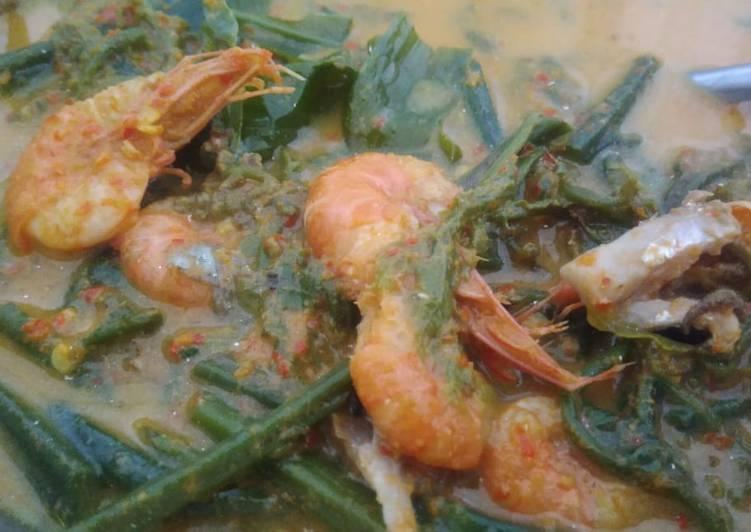 Cara Mudah mengolah Gulai pakis udang ikan karang yang menggugah selera