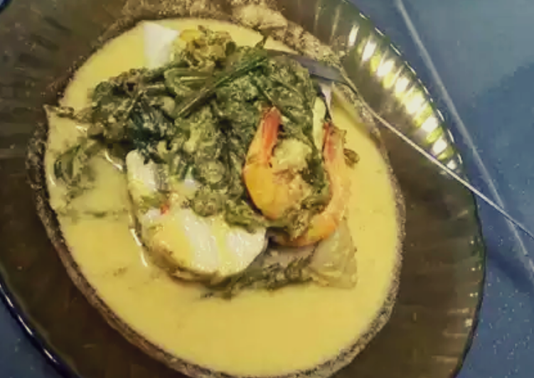 Udang Gulai Pakis mix Tahu
