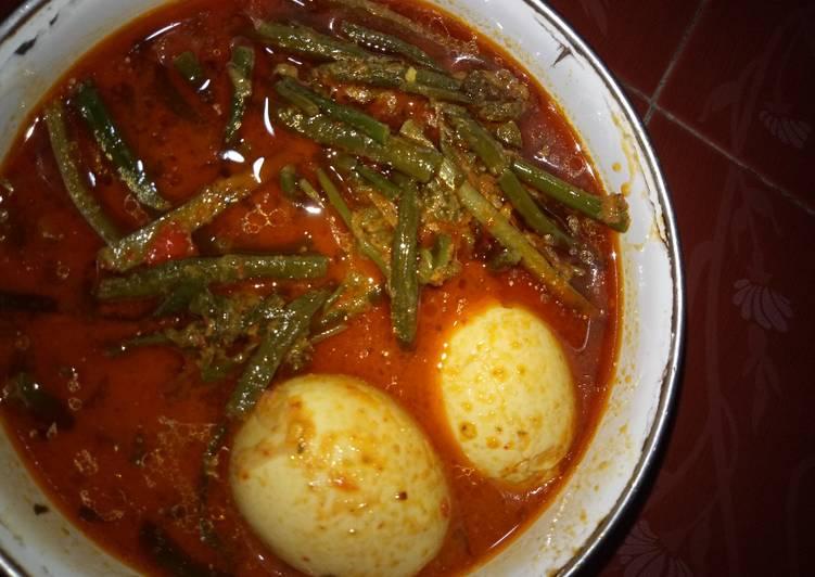 Resep membuat Gulai pakis, kacang panjang, dan telor yang bikin ketagihan