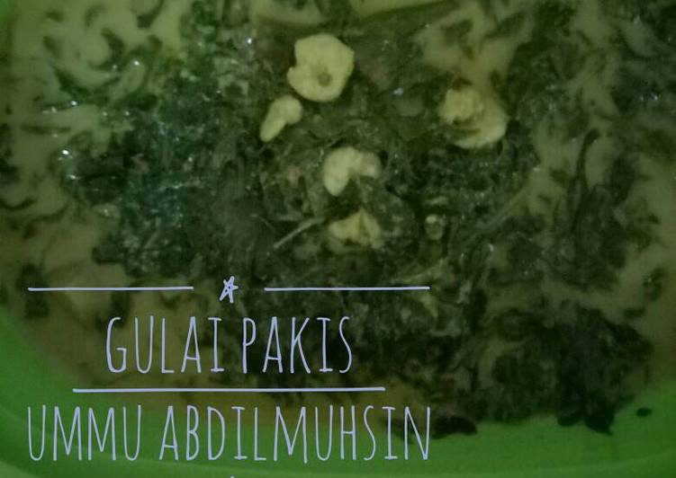 Resep: Gulai Pakis yang menggugah selera